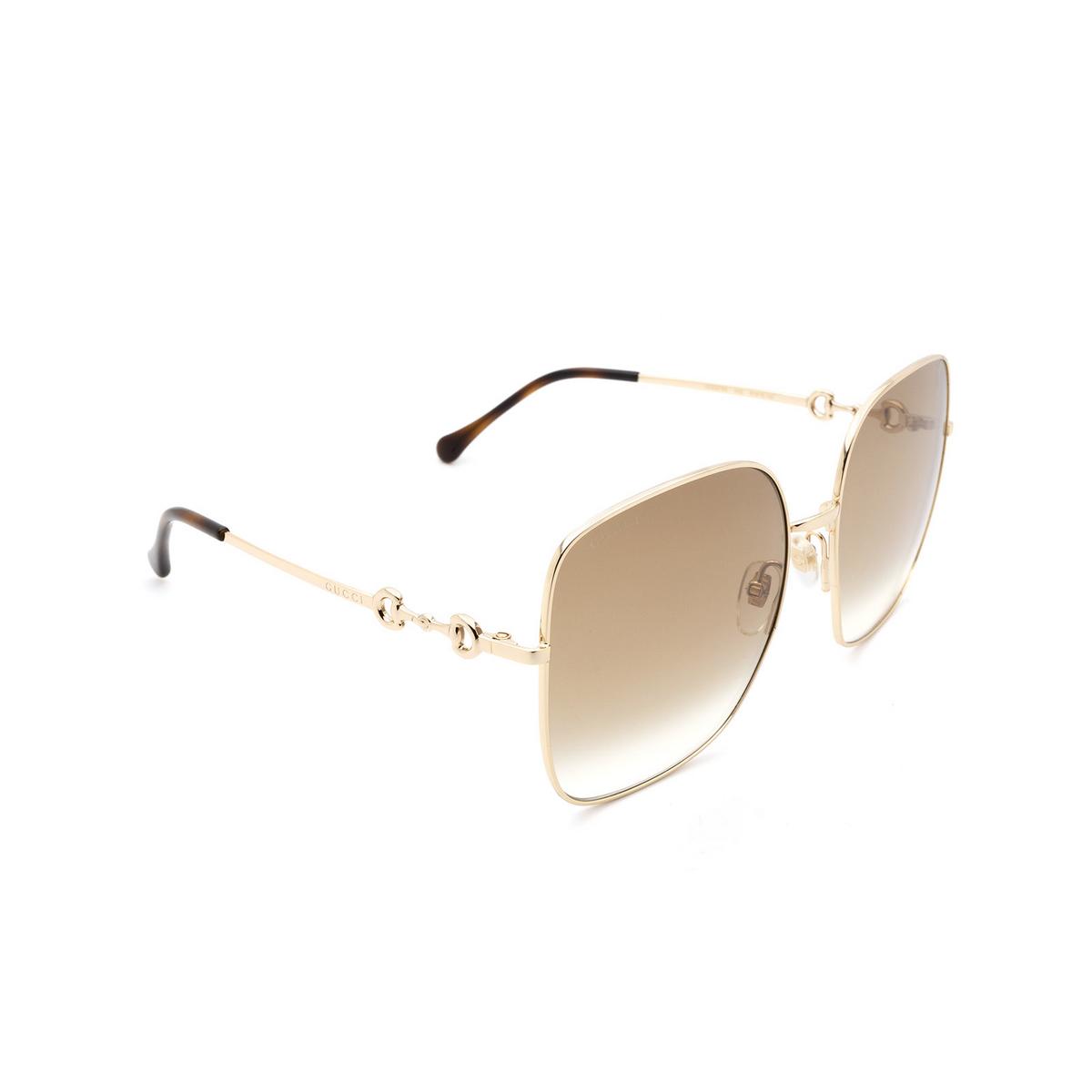 Gucci® Square Sunglasses: GG0879S color Gold 002 - 2/3.