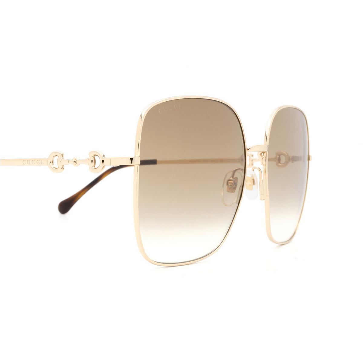 Gucci® Square Sunglasses: GG0879S color Gold 002 - 3/3.