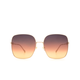 Gucci® Square Sunglasses: GG0879S color Gold 004.
