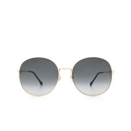 Gucci® Round Sunglasses: GG0881SA color Gold 001.
