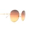 Gucci® Round Sunglasses: GG0881SA color Gold 004 - product thumbnail 3/3.
