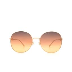 Gucci® Round Sunglasses: GG0881SA color Gold 004.