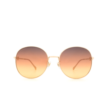 Gucci® Round Sunglasses: GG0881SA color Gold 004.