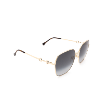 Gucci® Square Sunglasses: GG0882SA color Gold 001.