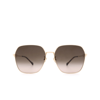 Gucci® Square Sunglasses: GG0882SA color Gold 002.