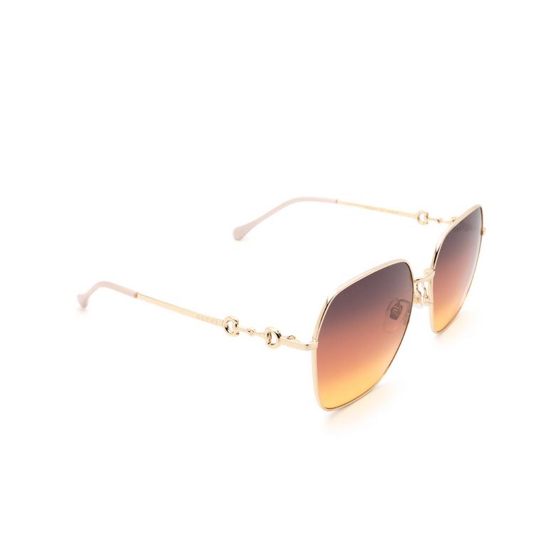 Gucci® Square Sunglasses: GG0882SA color Gold 004.