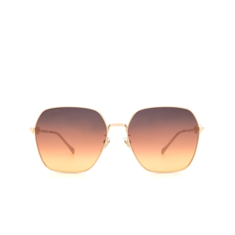 Gucci® Square Sunglasses: GG0882SA color Gold 004.