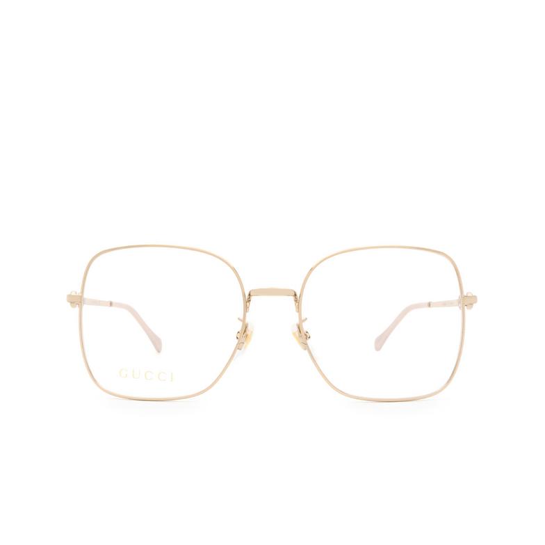 Gucci® Square Eyeglasses: GG0883OA color Gold 001.