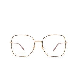 Gucci® Eyeglasses: GG0883OA color Havana & Gold 002.
