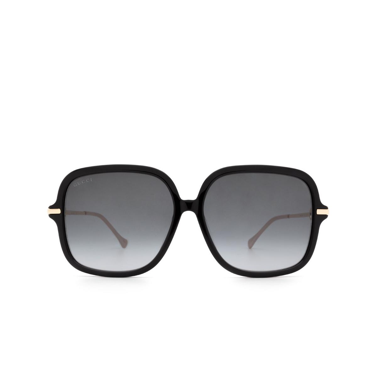 Gucci® Square Sunglasses: GG0884SA color Black 001.