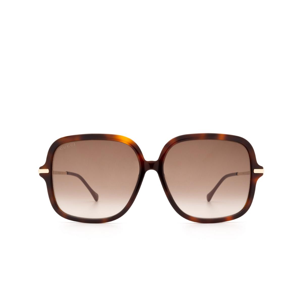 Gucci® Square Sunglasses: GG0884SA color Havana 002.