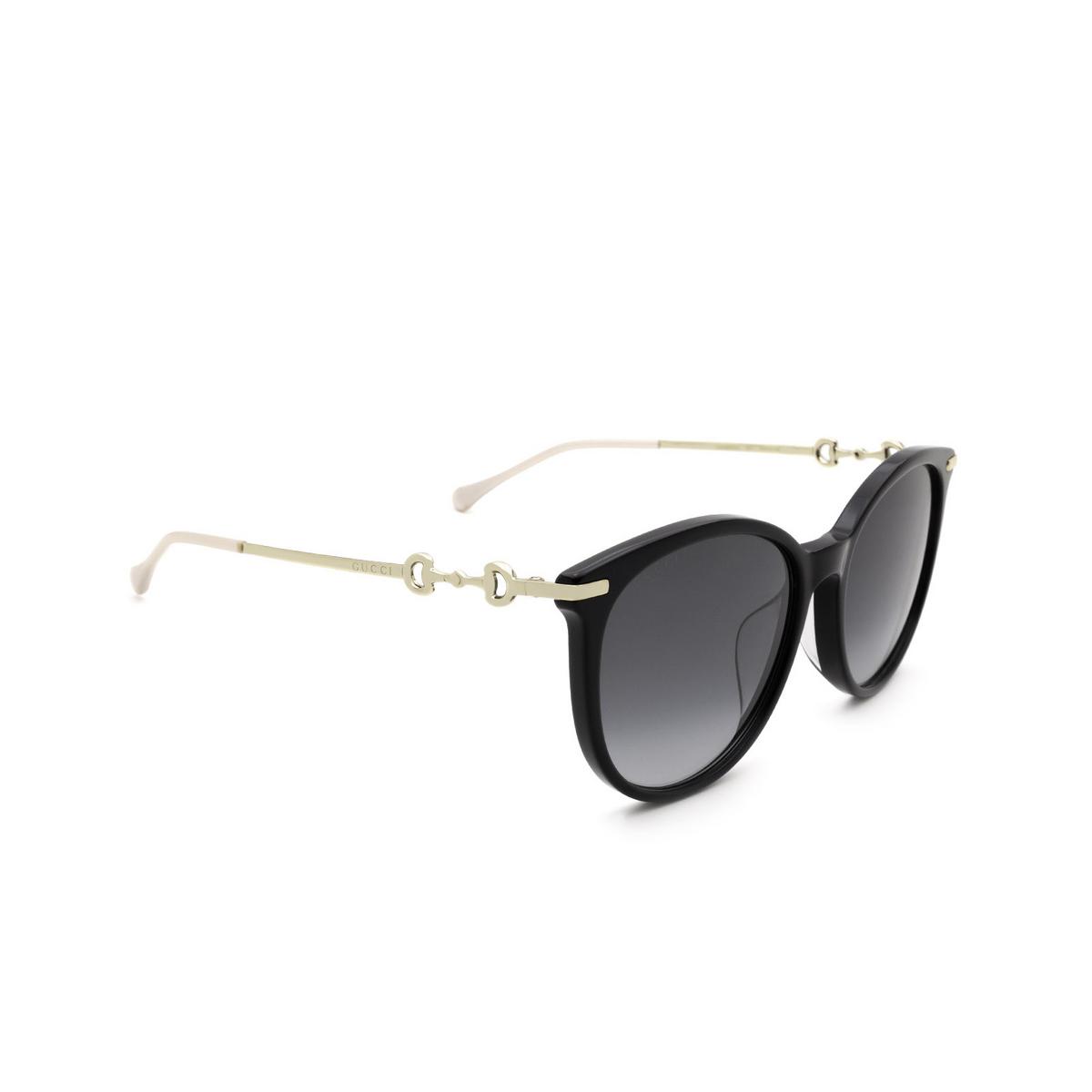 Gucci® Cat-eye Sunglasses: GG0885SA color Black 001.