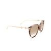 Gucci® Cat-eye Sunglasses: GG0885SA color Havana 004 - product thumbnail 2/3.