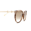 Gucci® Cat-eye Sunglasses: GG0885SA color Havana 004 - product thumbnail 3/3.
