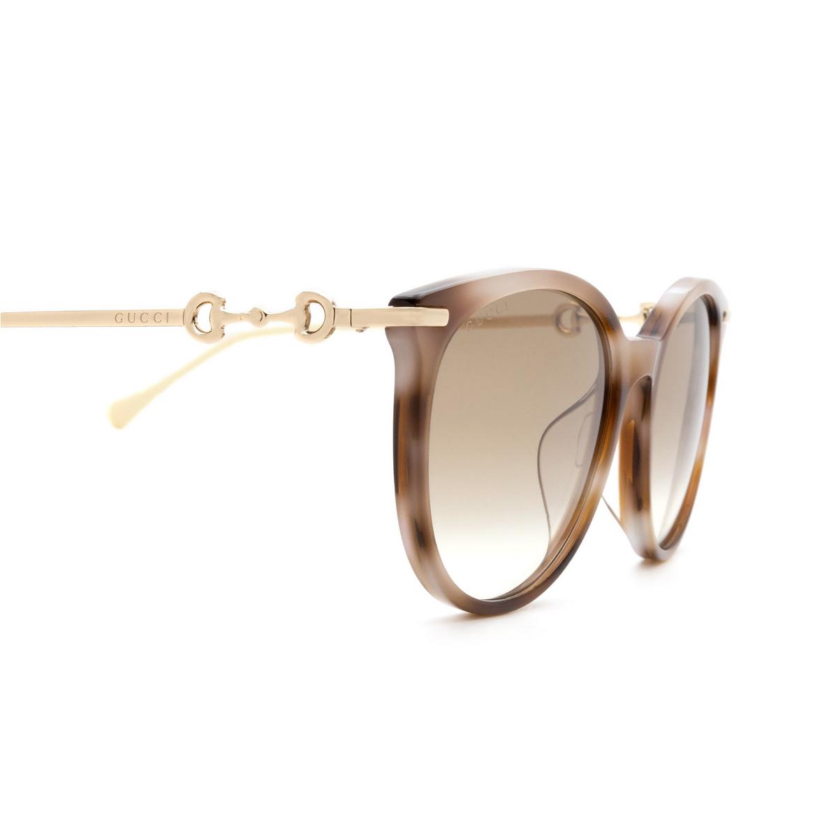 Gucci® Cat-eye Sunglasses: GG0885SA color Havana 004 - 3/3.