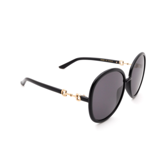 Gucci® Round Sunglasses: GG0889S color Black 001.