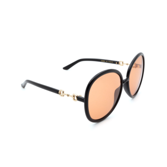 Gucci® Round Sunglasses: GG0889S color Black 003.