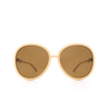 Gucci® Round Sunglasses: GG0889S color Beige 004 - product thumbnail 1/3.