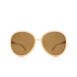 Gucci® Round Sunglasses: GG0889S color Beige 004.