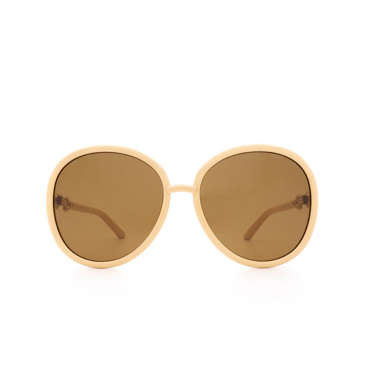 Gucci® Round Sunglasses: GG0889S color Beige 004 - 1/3.