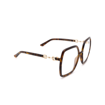 Gucci® Square Eyeglasses: GG0890O color Havana 002.