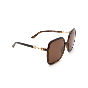Gucci® Square Sunglasses: GG0890S color Havana 002.