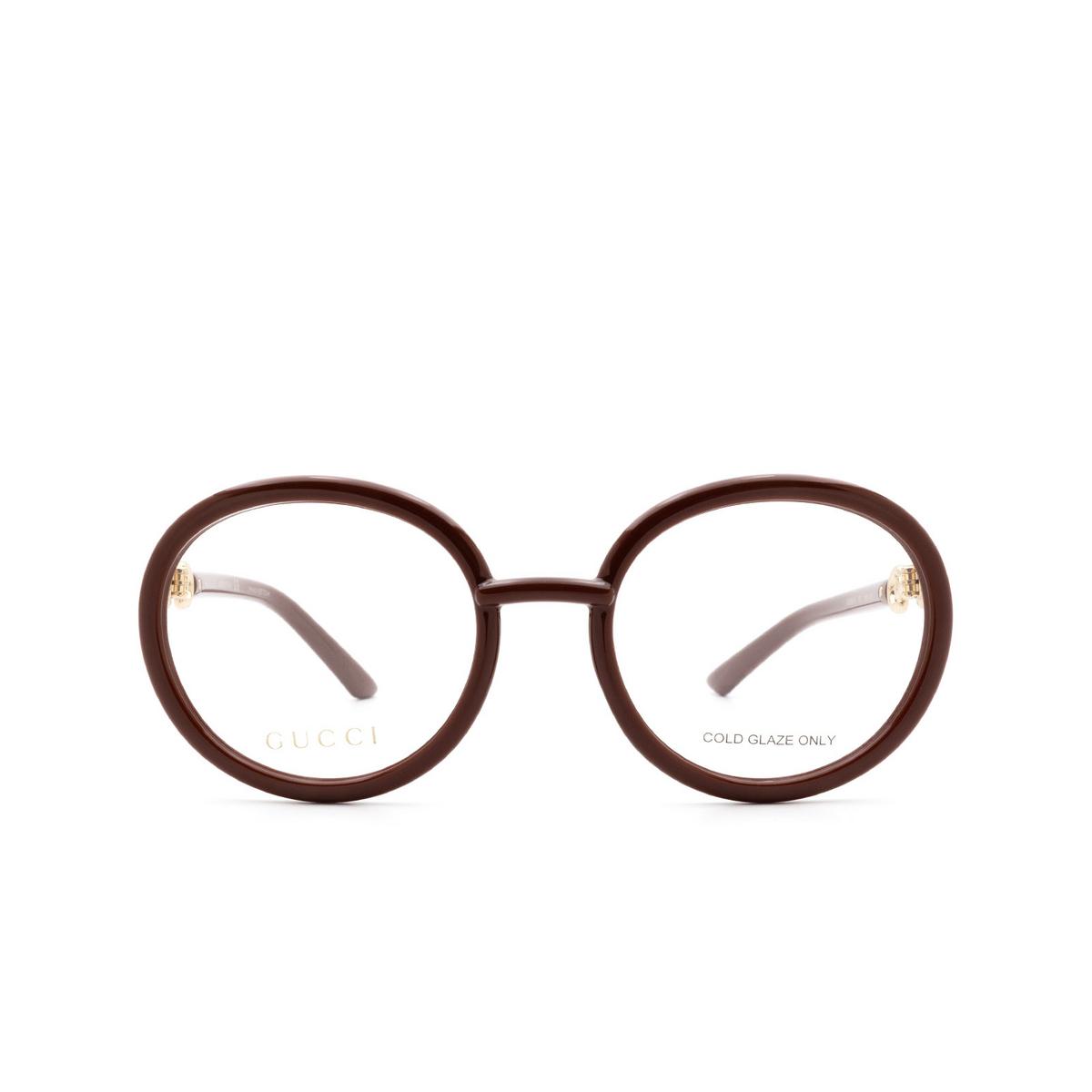 Gucci® Round Eyeglasses: GG0891O color Brown 002.