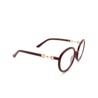 Gucci® Round Eyeglasses: GG0891O color Burgundy 003.
