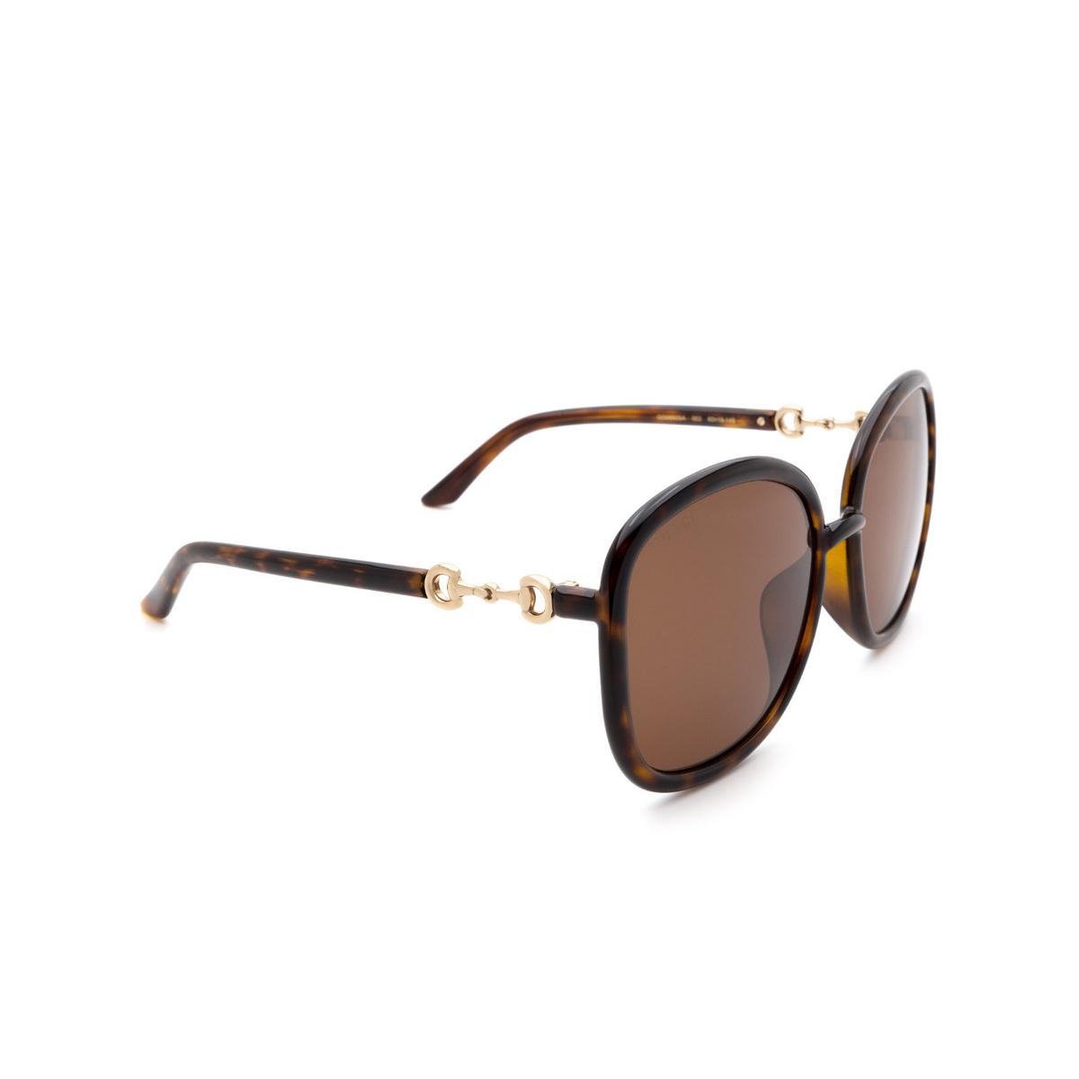 Gucci® Square Sunglasses: GG0892SA color Havana 002.