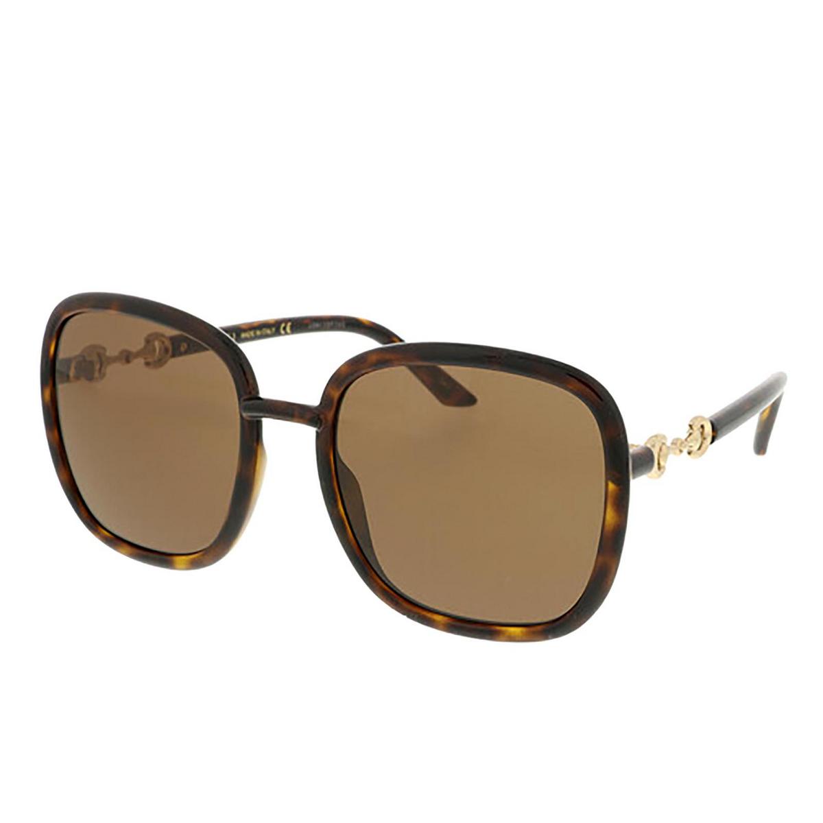 Gucci® Square Sunglasses: GG0893S color Dark Havana 002 - 2/3.