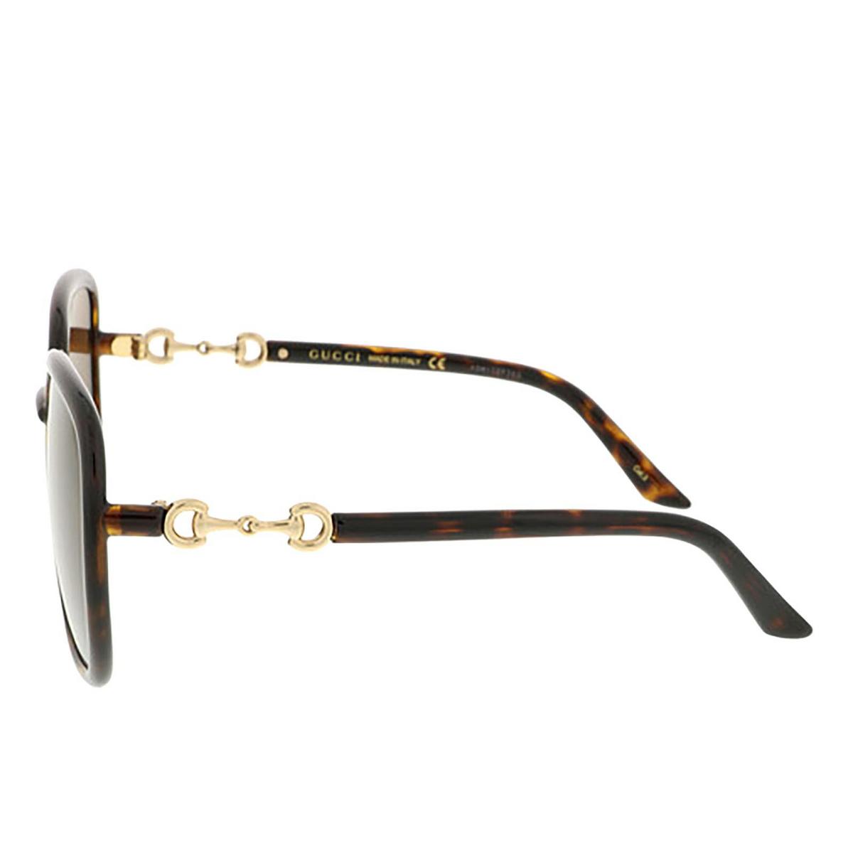 Gucci® Square Sunglasses: GG0893S color Dark Havana 002 - 3/3.