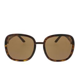 Gucci® Square Sunglasses: GG0893S color Dark Havana 002.
