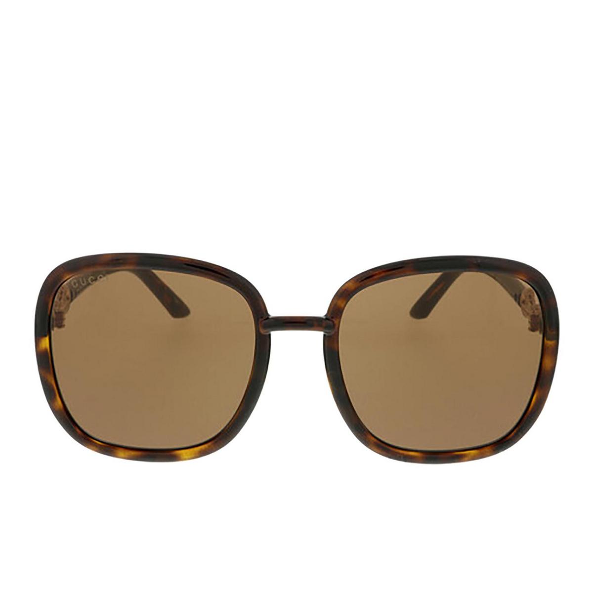 Gucci® Square Sunglasses: GG0893S color Dark Havana 002 - 1/3.
