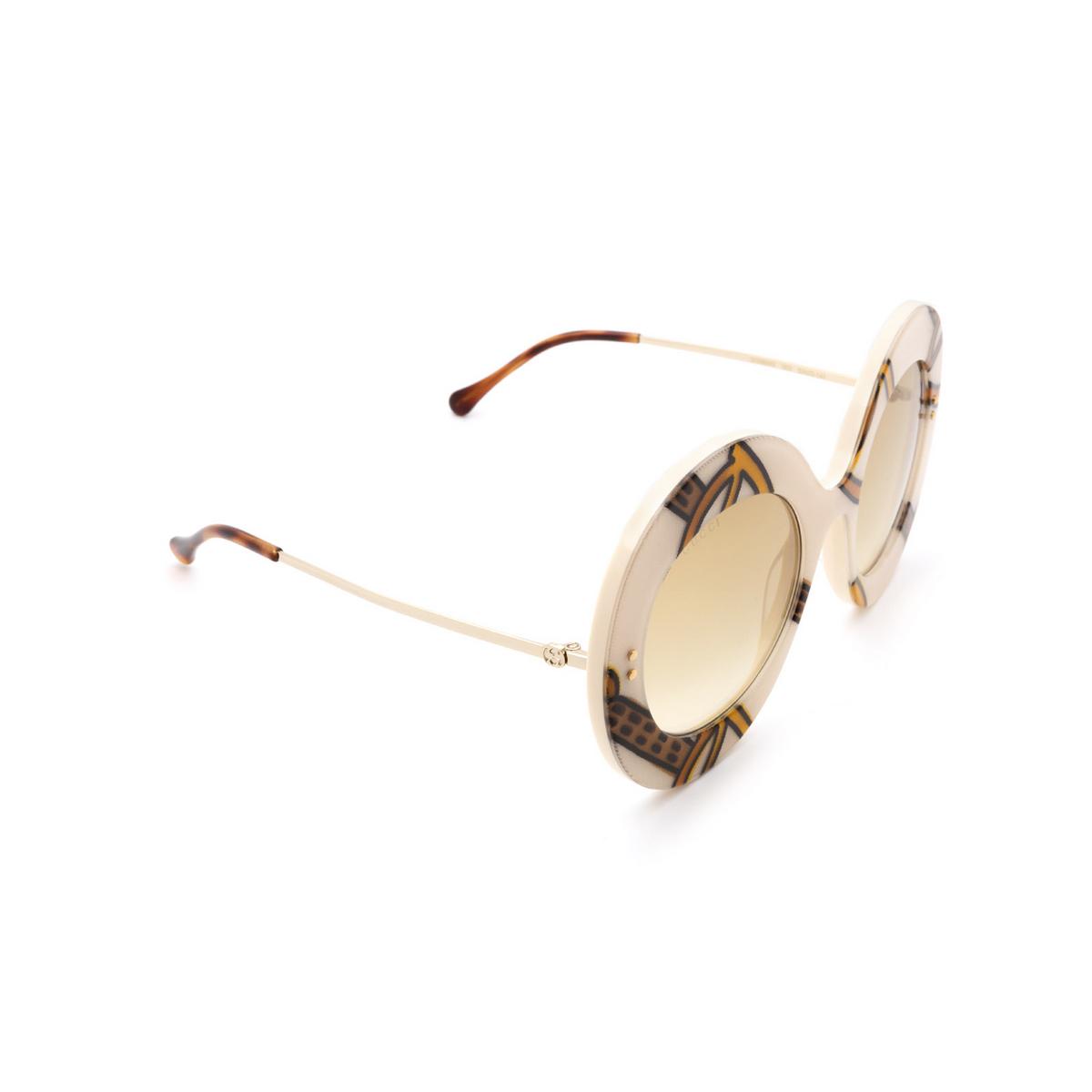 Gucci® Round Sunglasses: GG0894S color Ivory 003 - 2/3.