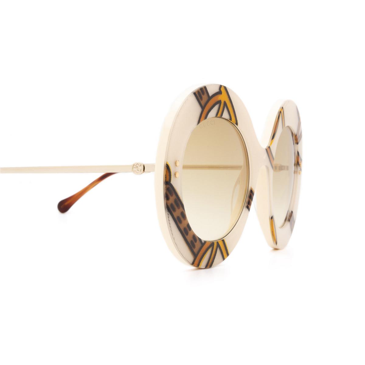 Gucci® Round Sunglasses: GG0894S color Ivory 003 - 3/3.
