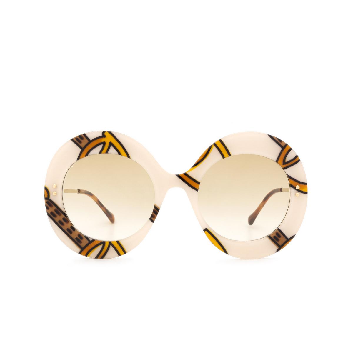 Gucci® Round Sunglasses: GG0894S color Ivory 003 - 1/3.
