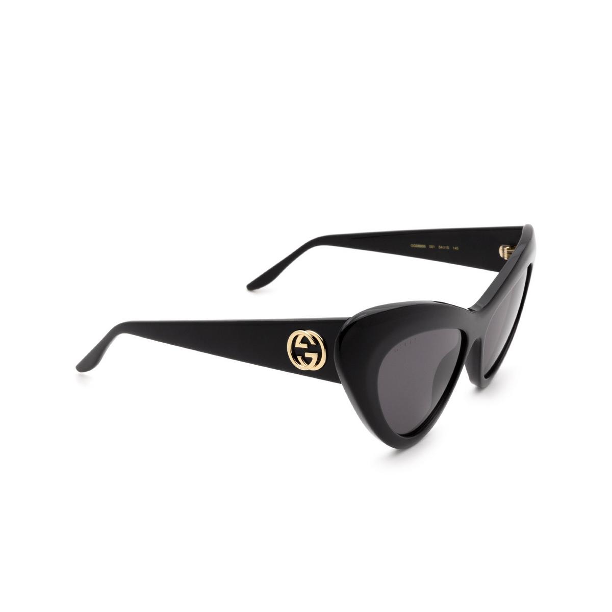 Gucci® Cat-eye Sunglasses: GG0895S color Black 001 - 2/3.