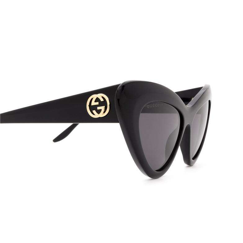 Gucci® Cat-eye Sunglasses: GG0895S color Black 001.