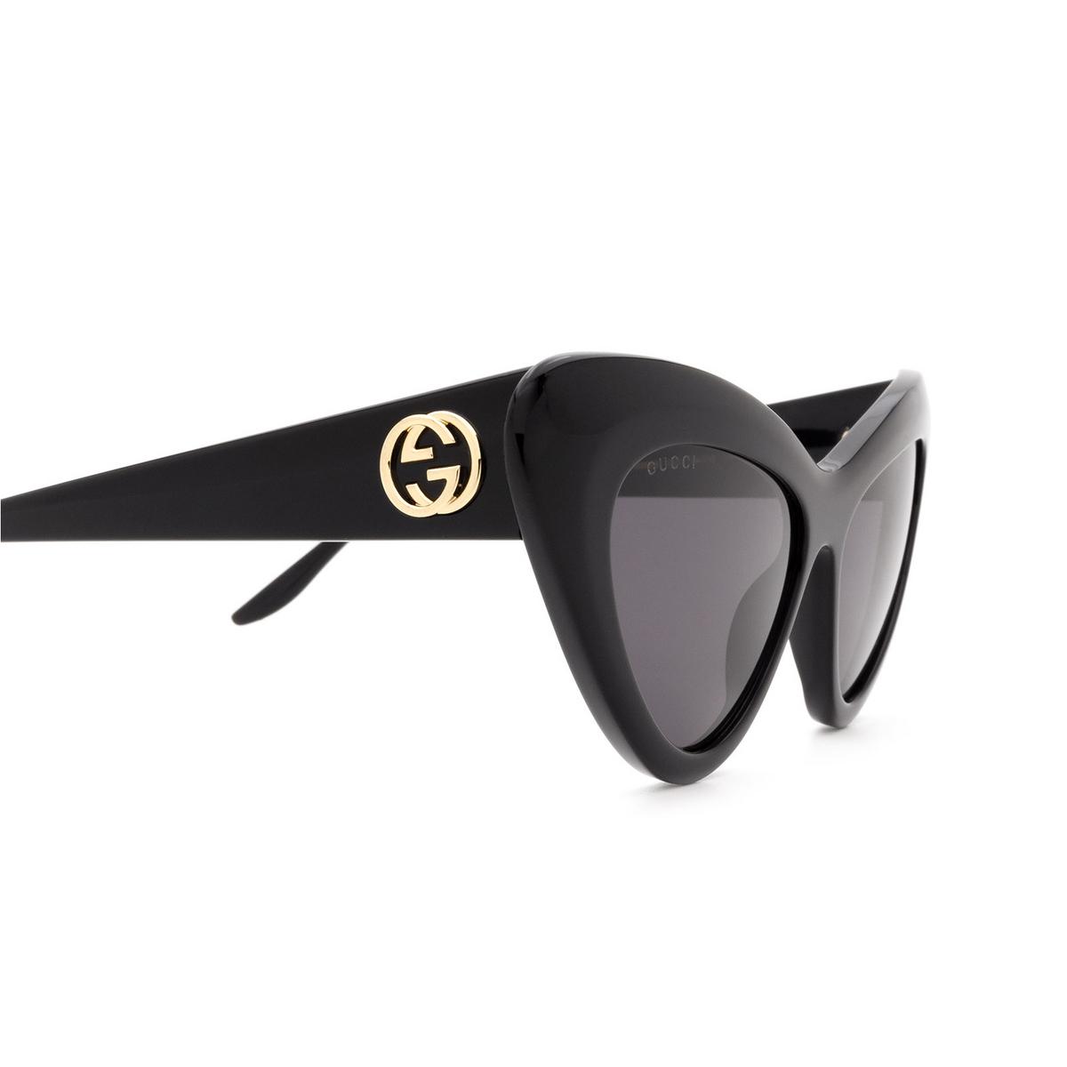 Gucci® Cat-eye Sunglasses: GG0895S color Black 001 - 3/3.