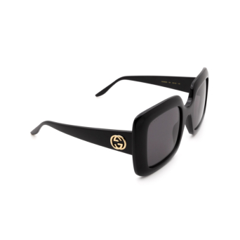 Gucci® Square Sunglasses: GG0896S color Black 001.