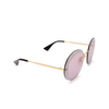 Gucci® Round Sunglasses: GG0899S color Gold 001 - product thumbnail 2/3.