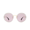 Gucci® Round Sunglasses: GG0899S color Gold 001 - product thumbnail 1/3.