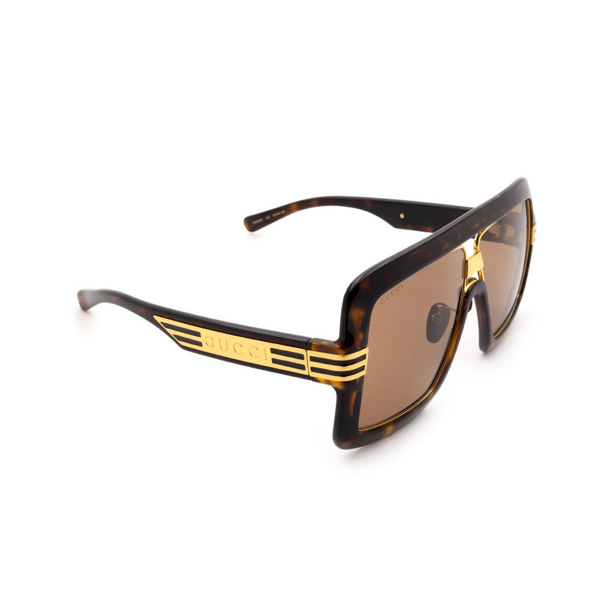Gucci® Square Sunglasses: GG0900S color Havana 002 - 2/3.