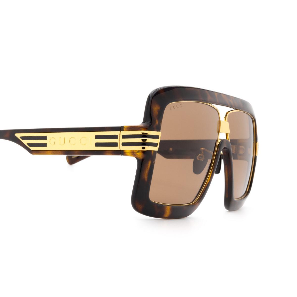 Gucci® Square Sunglasses: GG0900S color Havana 002 - 3/3.