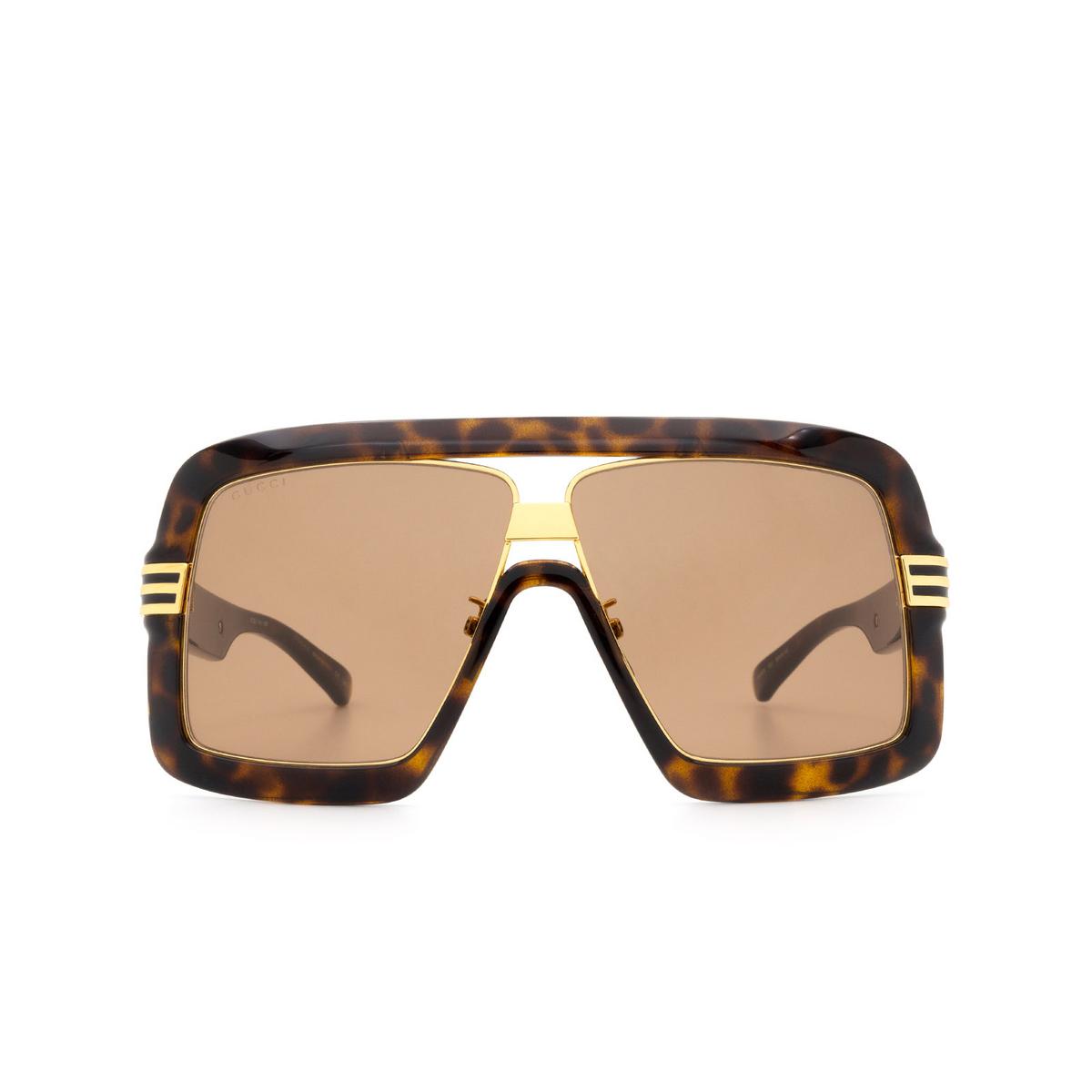 Gucci® Square Sunglasses: GG0900S color Havana 002 - 1/3.
