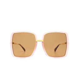 Gucci® Sunglasses: GG0903S color Pink Rim / Shiny Yellow Gold Gucci 002.