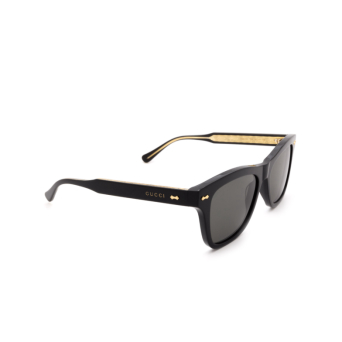 Gucci® Square Sunglasses: GG0910S color Black 001.