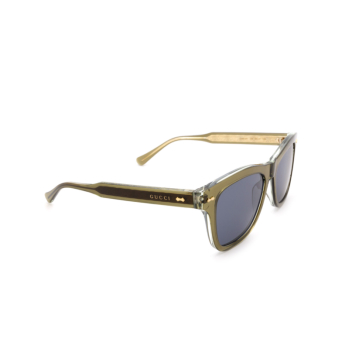 Gucci® Square Sunglasses: GG0910S color Green 002.