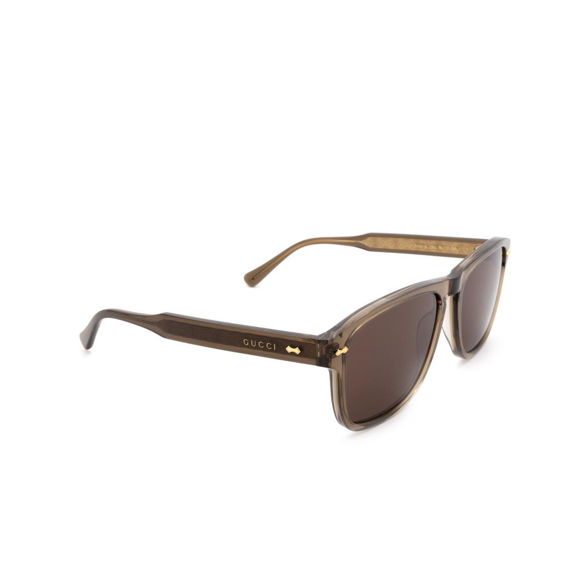 Gucci® Square Sunglasses: GG0911S color Brown 002 - 2/3.