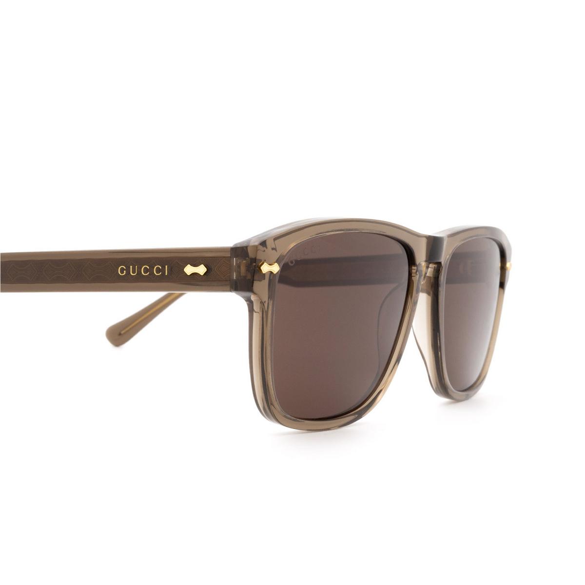 Gucci® Square Sunglasses: GG0911S color Brown 002 - 3/3.